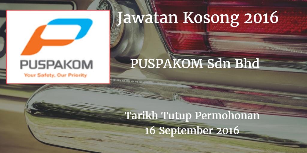 Jawatan Kosong PUSPAKOM Sdn Bhd 16 September 2016
