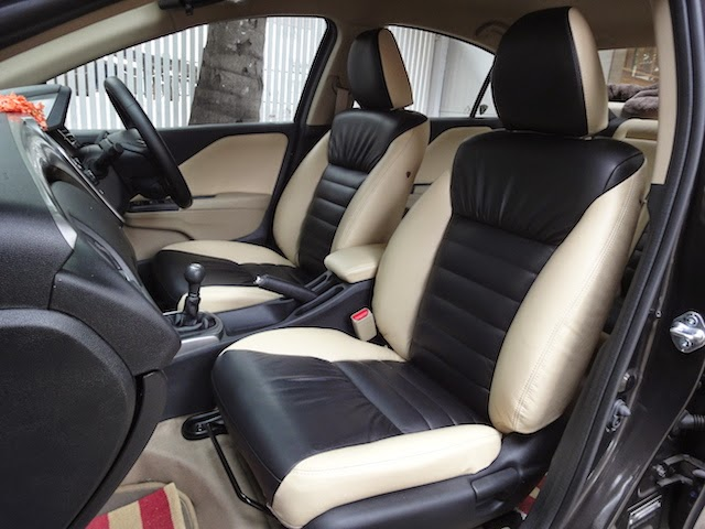 Honda City 2014 Car Seat Covers Luxure Nappa Leather Car