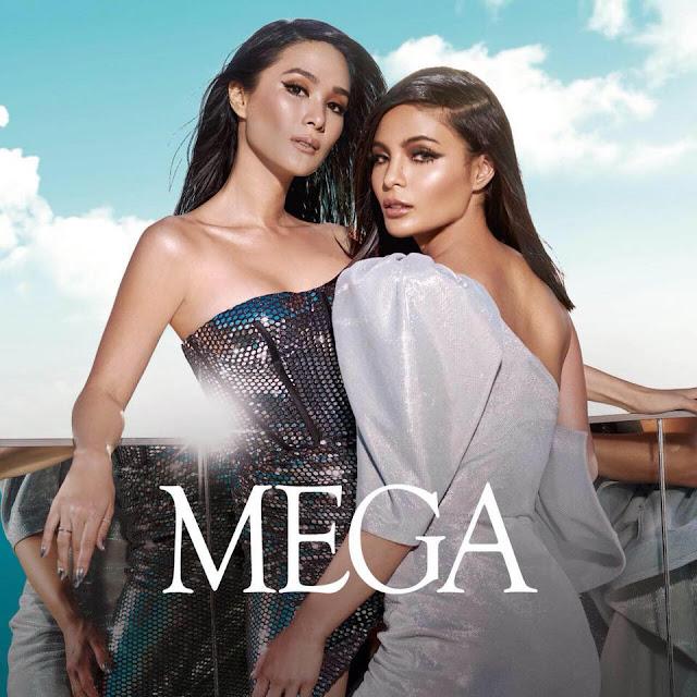 Evangelista Escudero with Lovi Poe at MEGA May 2018 Cover