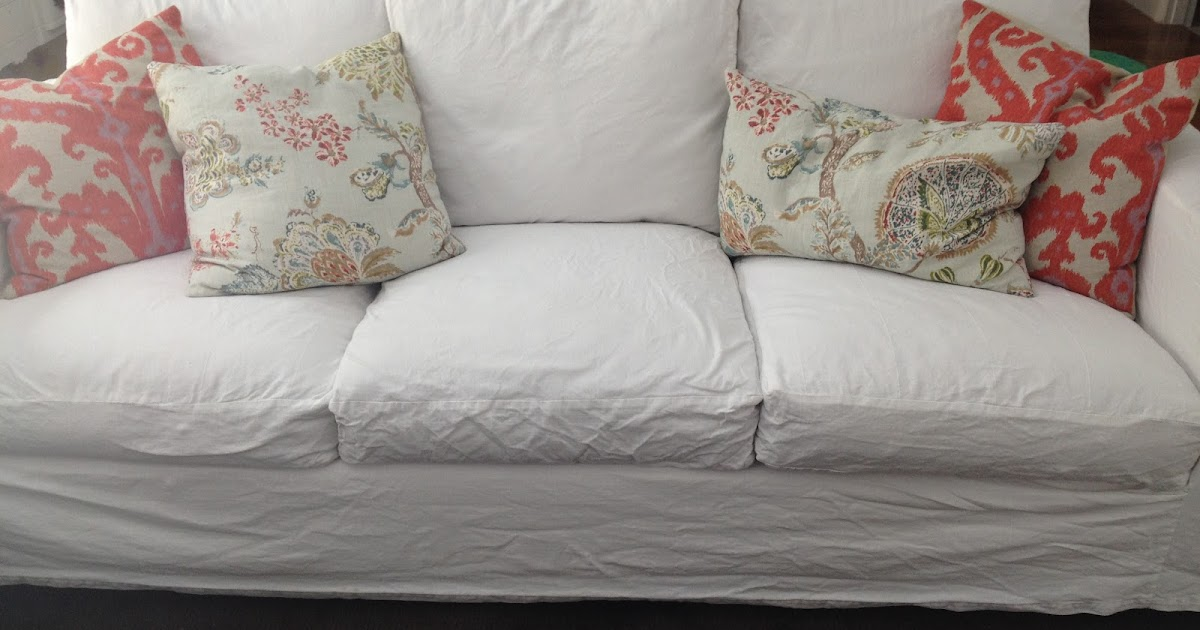 Gorgeous Shiny Things Real Life White Slipcovers Keeping