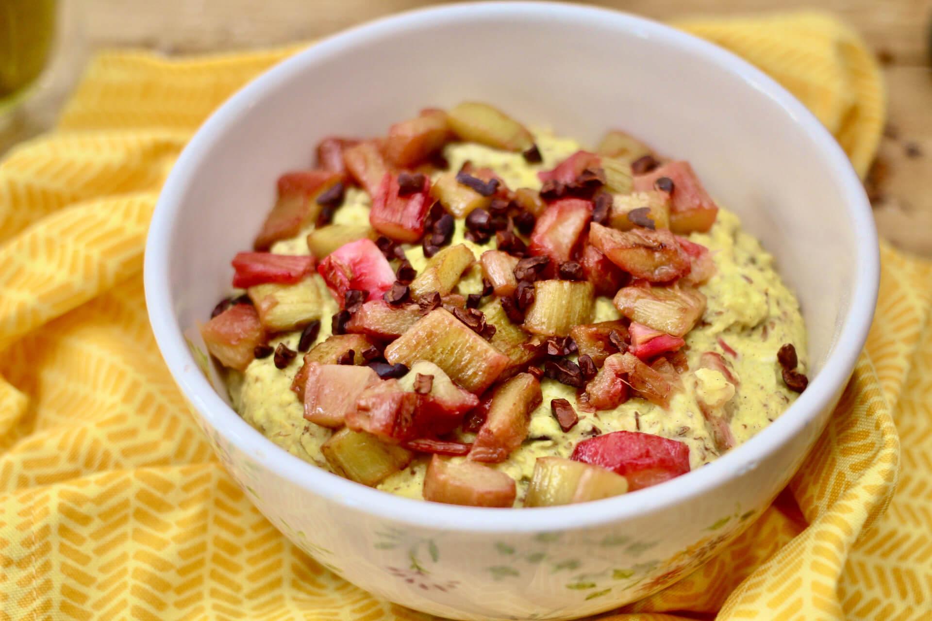 Rhabarber-Porridge