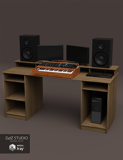Studio Desk and Retro Synth