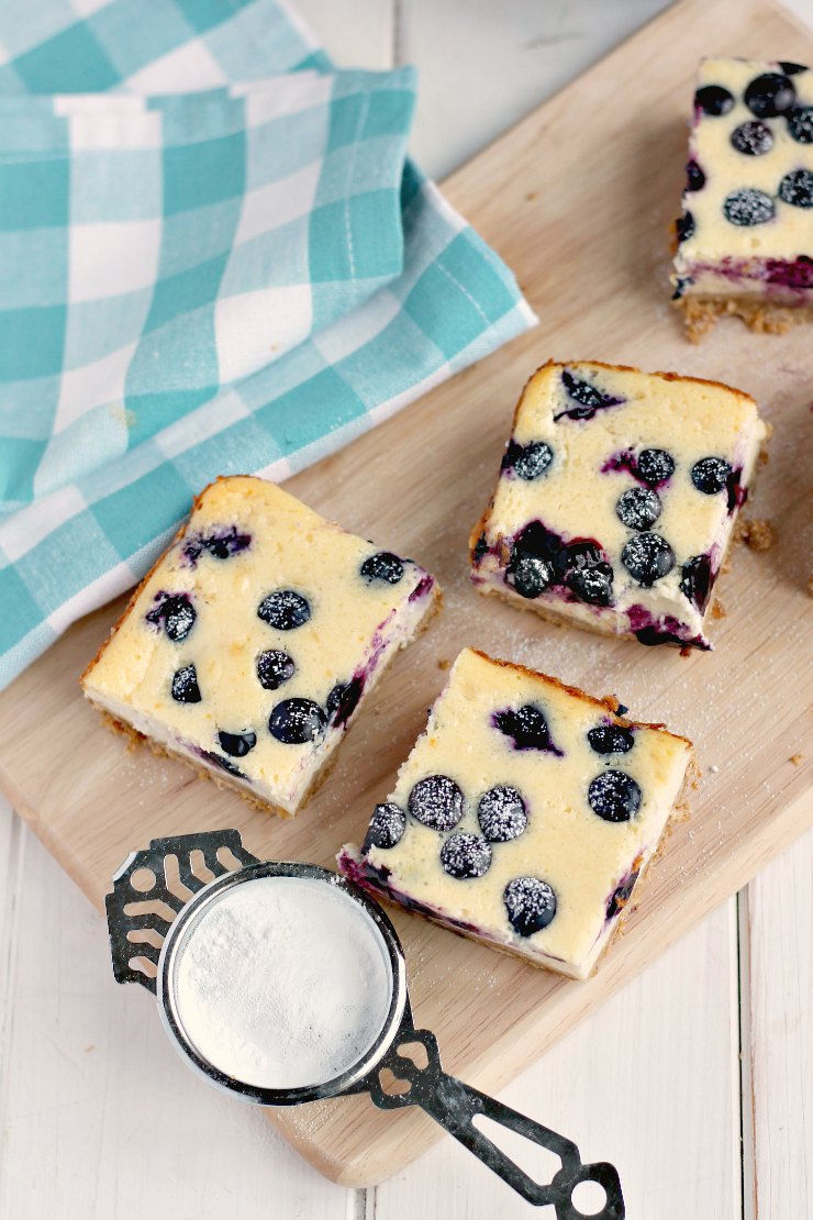 Blueberry Orange Cheesecake Bars