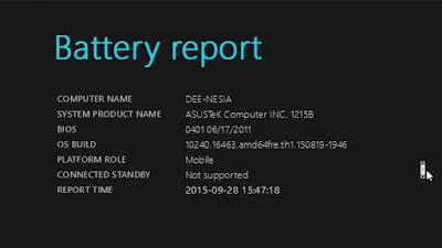 cara cek baterai laptop