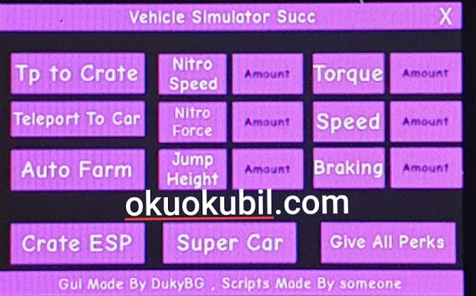 Roblox Vehicle Simulator PCX Alpha Exploit Her Oyun Süper Farm,Araba Hilesi 2019