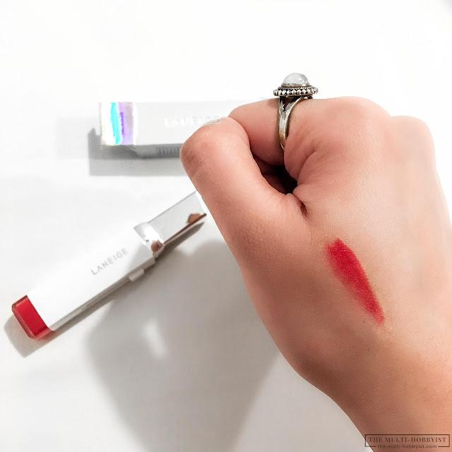 laneige two tone tint lip bar swatch