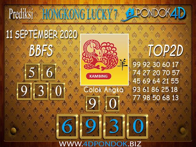 Prediksi Togel HONGKONG LUCKY 7 PONDOK4D 10 SEPTEMBER 2020