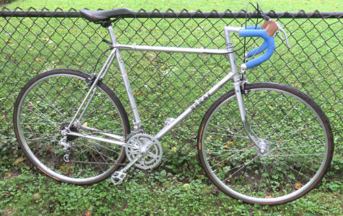 1976 Sekai Competitoin (Model 2500) Bicycle with fence background