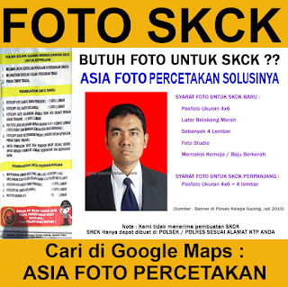 FOTO STUDIO UNTUK SKCK KEPOLISIAN
