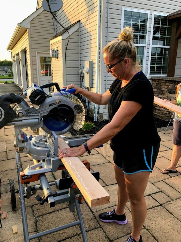 Using chop saw
