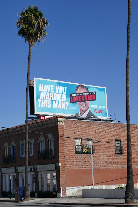 Love Fraud docuseries billboard