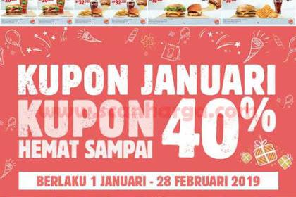 Promo BURGER KING Kupon Hemat Terbaru 1 Januari - 28 Februari 2019