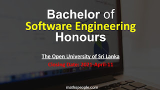 Bachelor of Software Engineering Honours The Open University of Srilanka