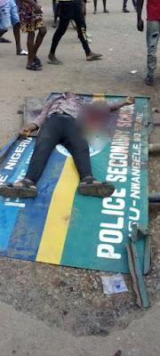 PHOTOS: Police Officer Shot An Okada Rider Dead For Not Wearing Face Masks