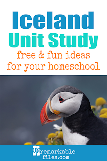 This Iceland unit study is packed with activities, crafts, book lists, and recipes for kids of all ages! Make learning about Iceland in your homeschool even more fun with these free ideas and resources. #Iceland #homeschool