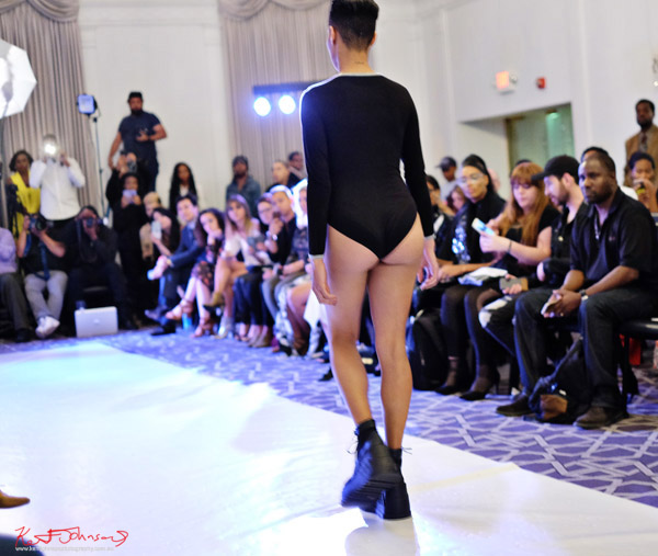 Activewear leotard, Streetwear Label  Finesse UK at Bracé NYFW. Photographed by Kent Johnson.