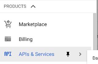 GCP APIs & services