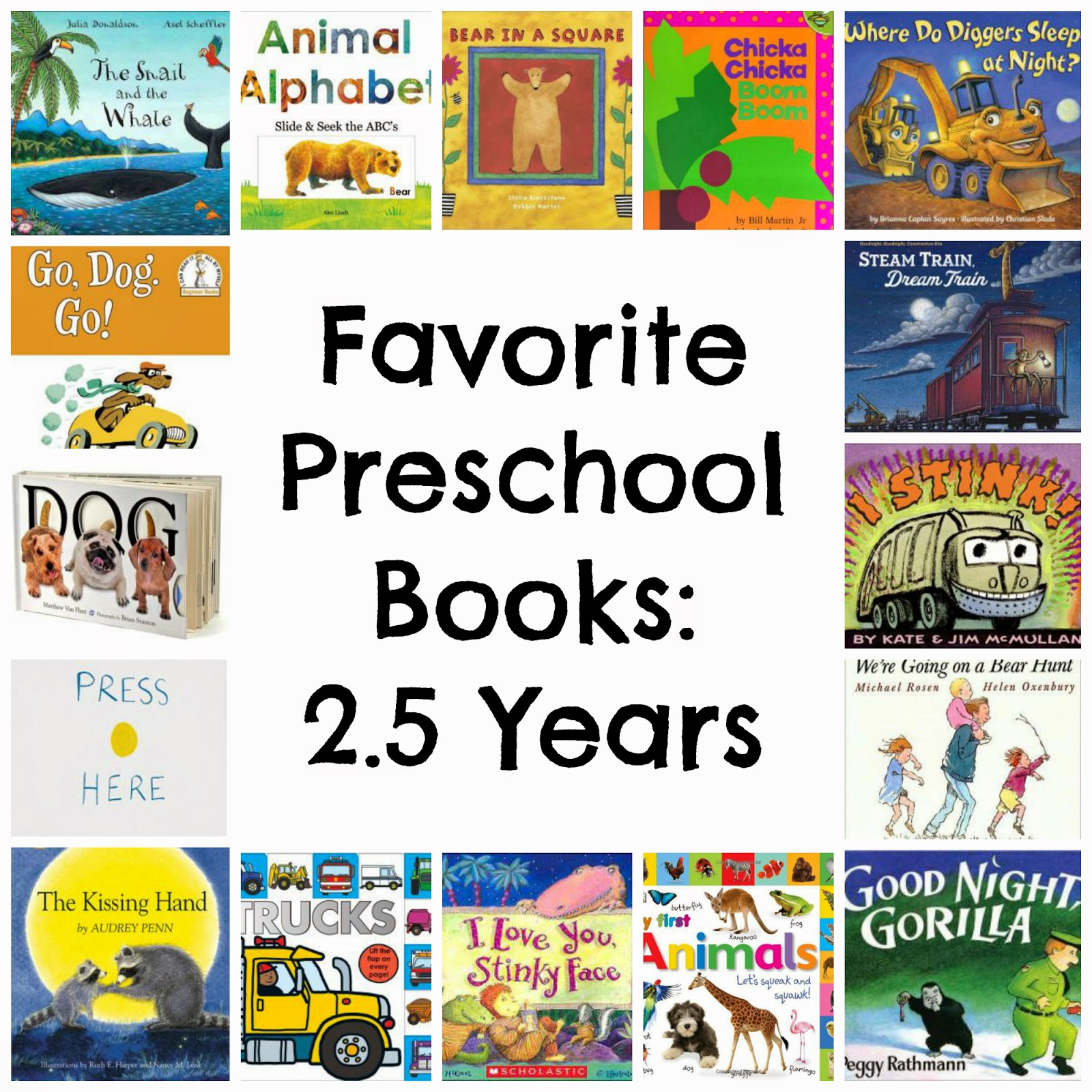 running from the law favorite books for preschoolers 2 5 years