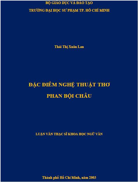 Đặc điểm nghệ thuật thơ Phan Bội Châu