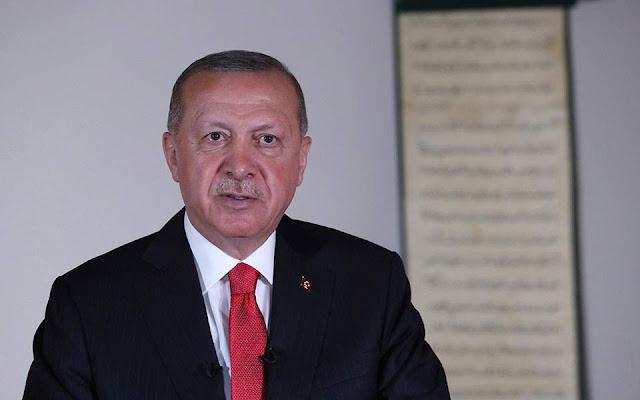 Ερντογάν: «Δεν θα υποστείλουν τη σημαία μας, δεν θα επιβάλλουν σιγή στην προσευχή μας»