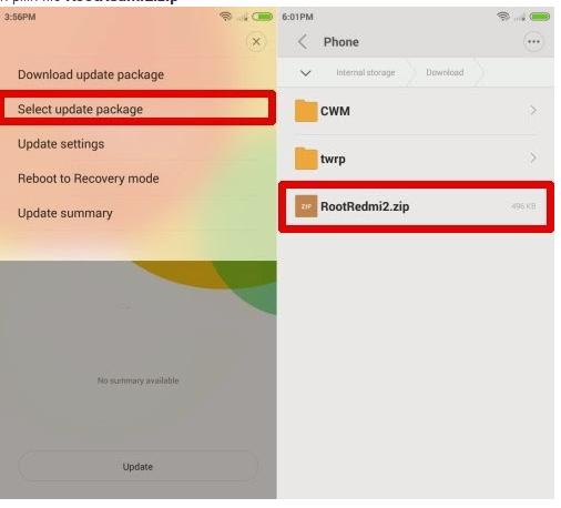 Cara Root Xiaomi Redmi 2 Lollipop tanpa pc