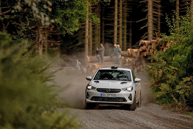 Corsa R4 Rally Car Testing