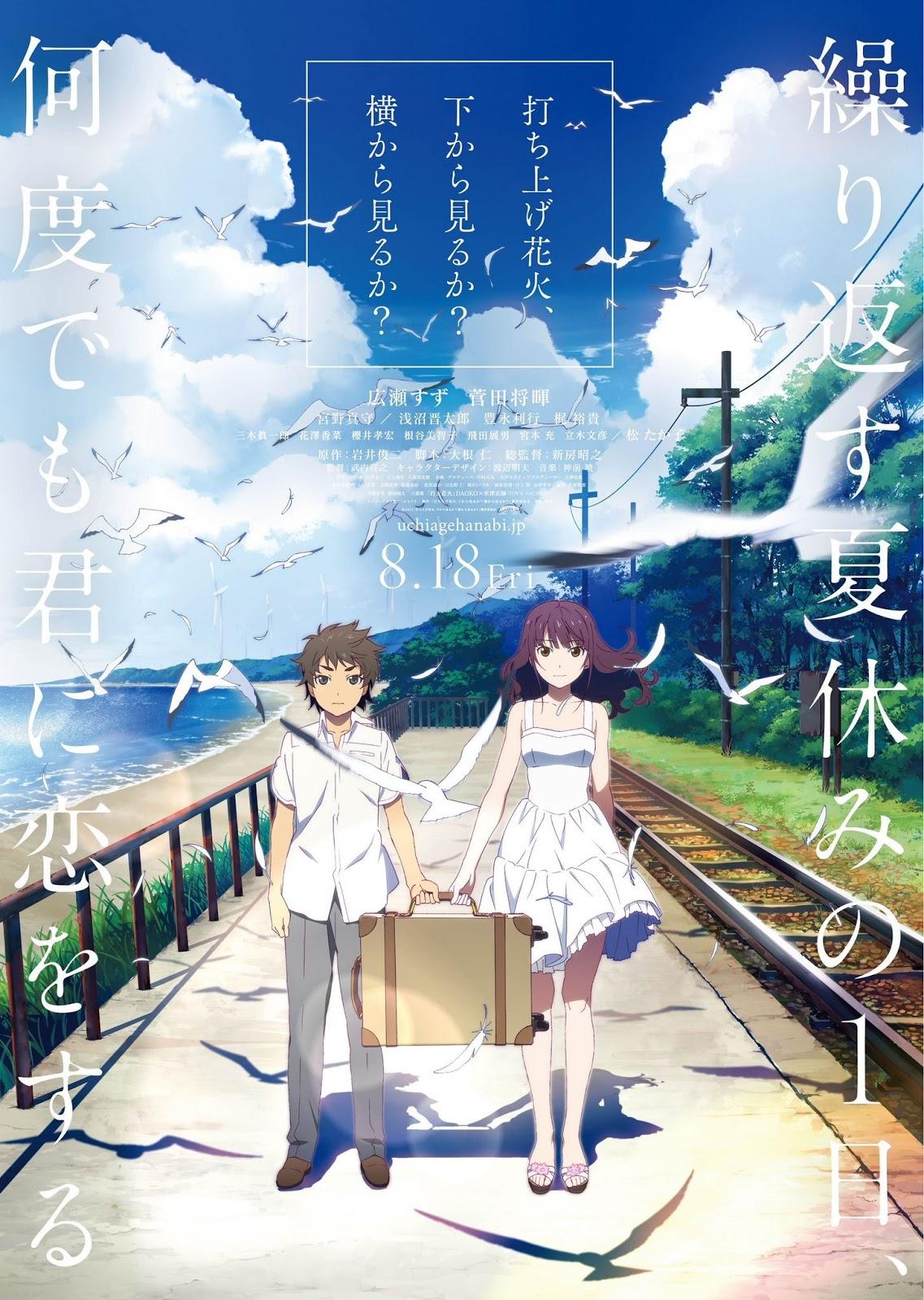 Anime movie subtitle indo uchiage hanabi shita kara miru ka yoko kara miru ka sub indo