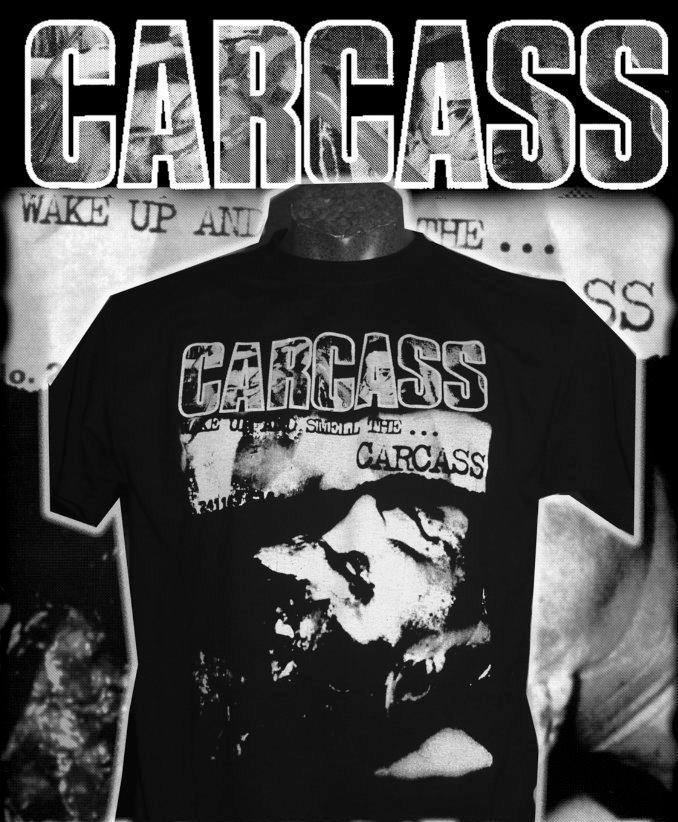 """sinister merchandise: CARCASS - """"Wake Up And Smell The"""