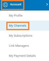 My channel, Channel ID cuelinks, Cuelinks website and online affiliate