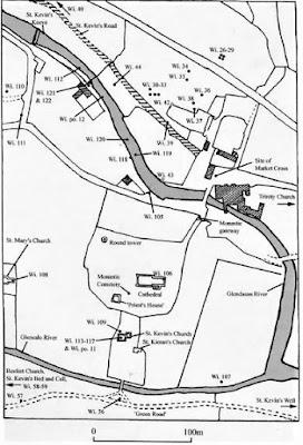 Bullaun Stone Map, Glendalough