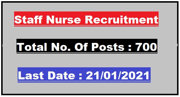 700 Gujarat Staff Nurse Recruitment