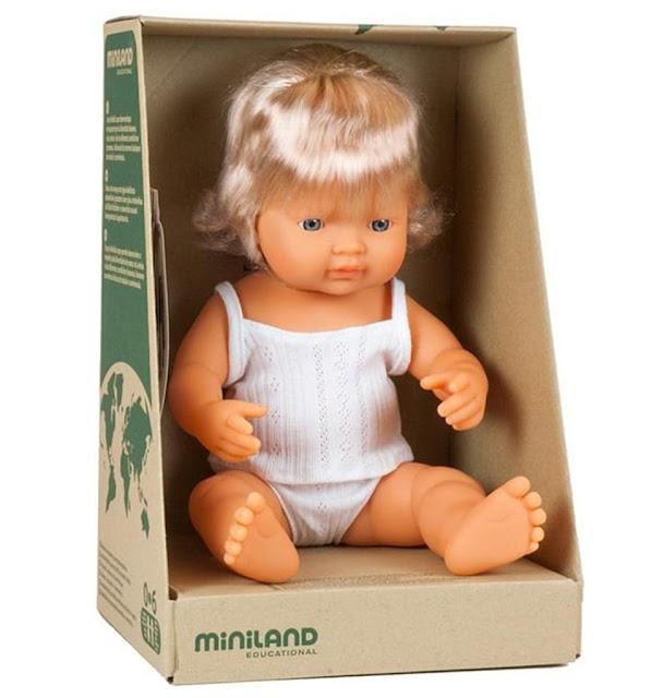 Miniland doll baby girl