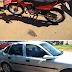 Acidente entre moto e veículo é registrado em Laranjeiras