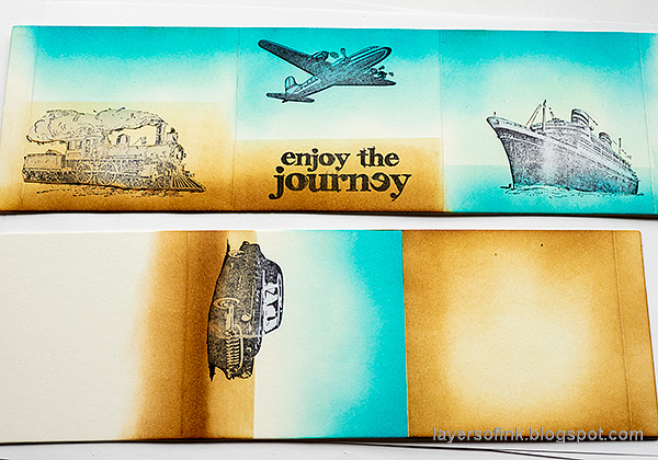 Layers of ink - Vintage Vehicles Box Tutorial by Anna-Karin Evaldsson. Ink with Distress Ink.