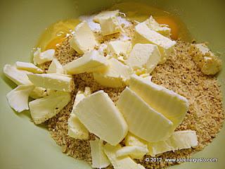 Ingredienti per  biscotti natalizi di pasta frolla