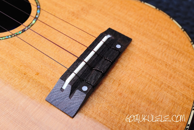 World of Ukes Eden Origin Tenor Ukulele bridge