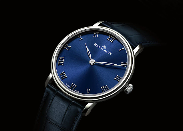 Blancpain Villeret Ultraplate Blue Dial ref. 6605-3440-55A
