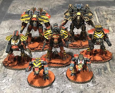 Legio Ignatum and Ordo Sinister Titans for Adeptus Titanicus