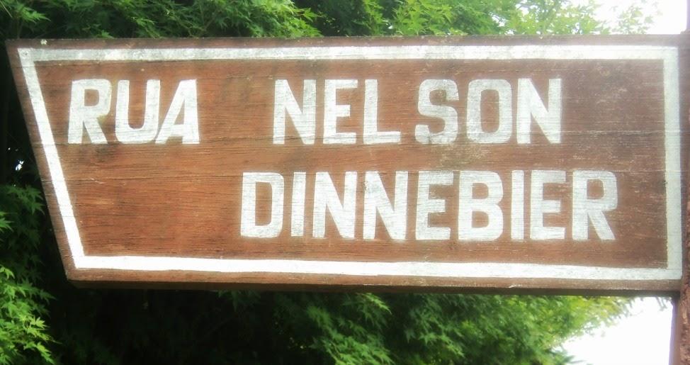 Rua Nelson Dinnebier, em Gramado. Antiga Rua Dom Pedro I