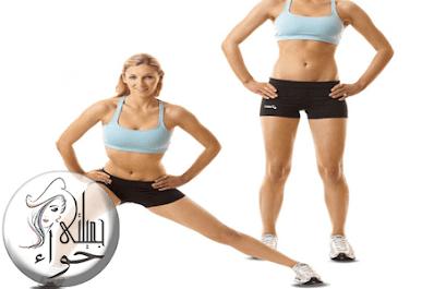 تمرينات Side Lunges لتكبير المؤخرة