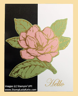 card with paper piecing using imagery from Stampin'UP!'s Good Morning Magnolia stamp set
