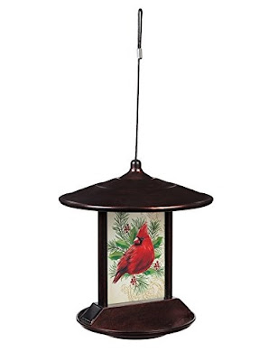 Evergreen Solar Cardinal Bird Feeder