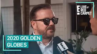 Ricky Gervais se aquece para o Globo de Ouro 2020