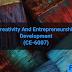 Creativity and Entrepreneurship Development (CE-6007)
