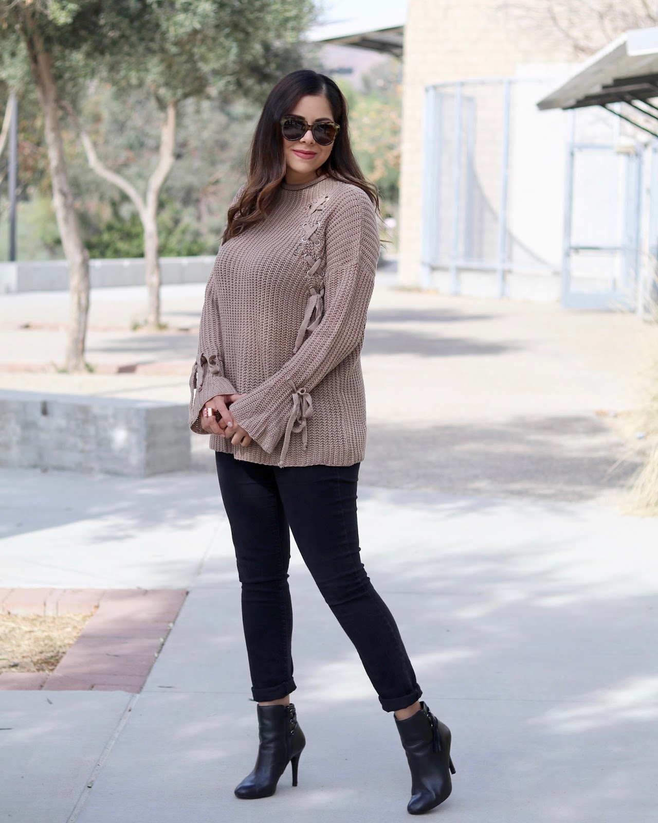 Laced Up Sweater, tobi lace up sweater, sweater weather outfit, san diego fashion blogger