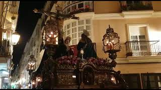 Cristo de la Piedad en la C/San Francisco en la Semana santa de Cádiz 2019