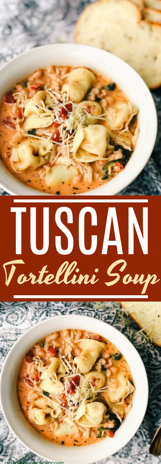 Tuscan Tortellini Soup #dinner #soup #recipes #comfortfood #pasta