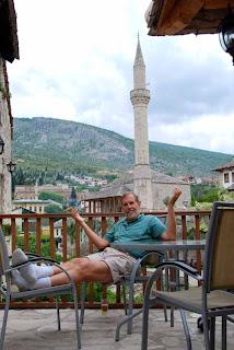 Wayne dunlap Balcony of Hotel Mostar bosnia
