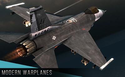 تحميل لعبة الطائرات الحربية والاثارة Modern Warplanes النسخة المهكرة للاجهزة الاندرويد