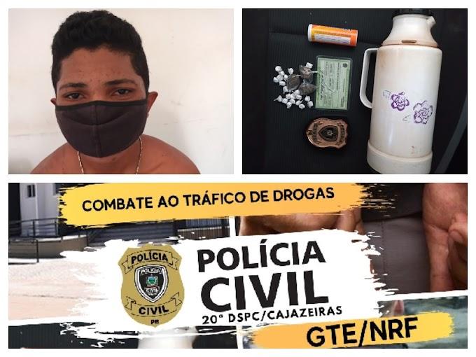 Após denúncias GTE e NRF prende indivíduo com Droga em Cajazeiras PB